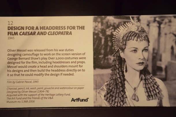 """design for the headdress and wig used in """"Caesar and Cleopatra"""""""