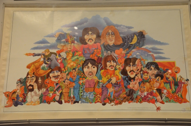 Can you work out the 13 Beatles song titles hidden in this poster? (1969)