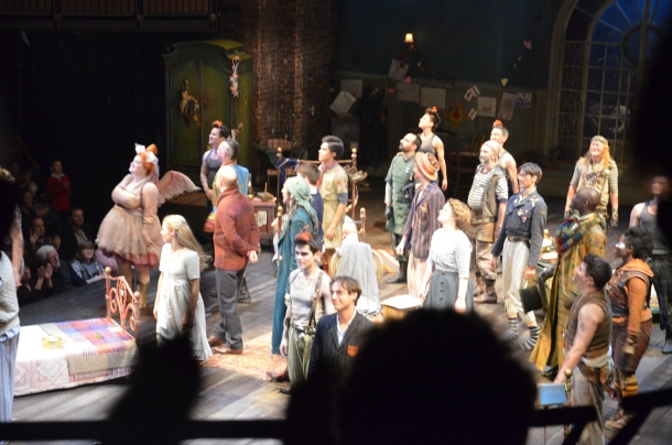 the cast's final bow