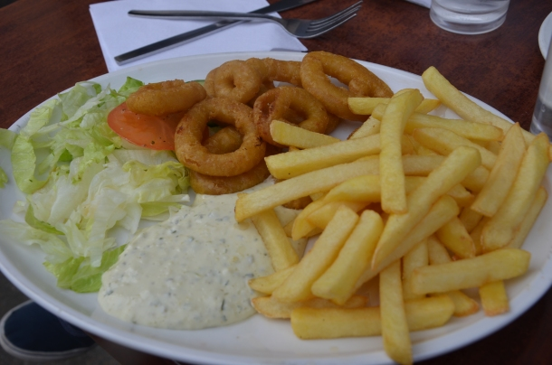 Gaby's Calamari & Chips with Tartar Sauce