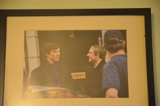 Ben and Martin prepping for a scene