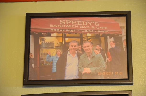 owner of Speedy's with Martin Freeman