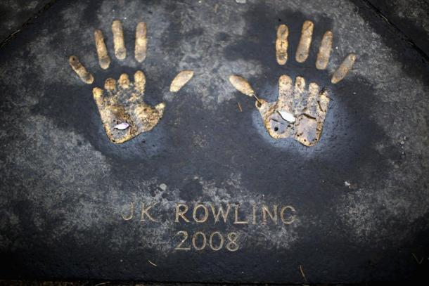 JK Rowling handprints at Royal Mile © gettyimages.co.uk