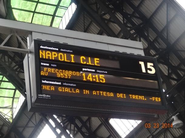 train to Napoli Centrale